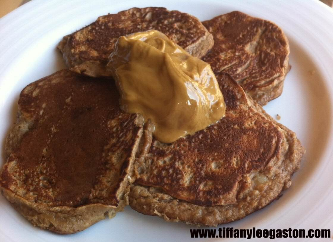 Chocolate Banana Protein Pancakes