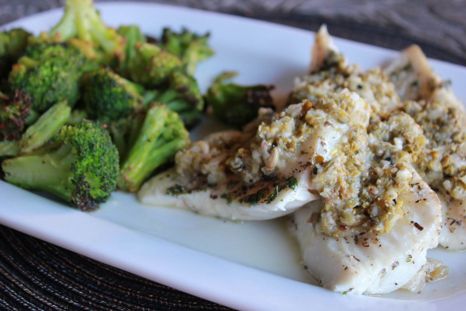 Paleo Sautéed Halibut with Caper Relish
