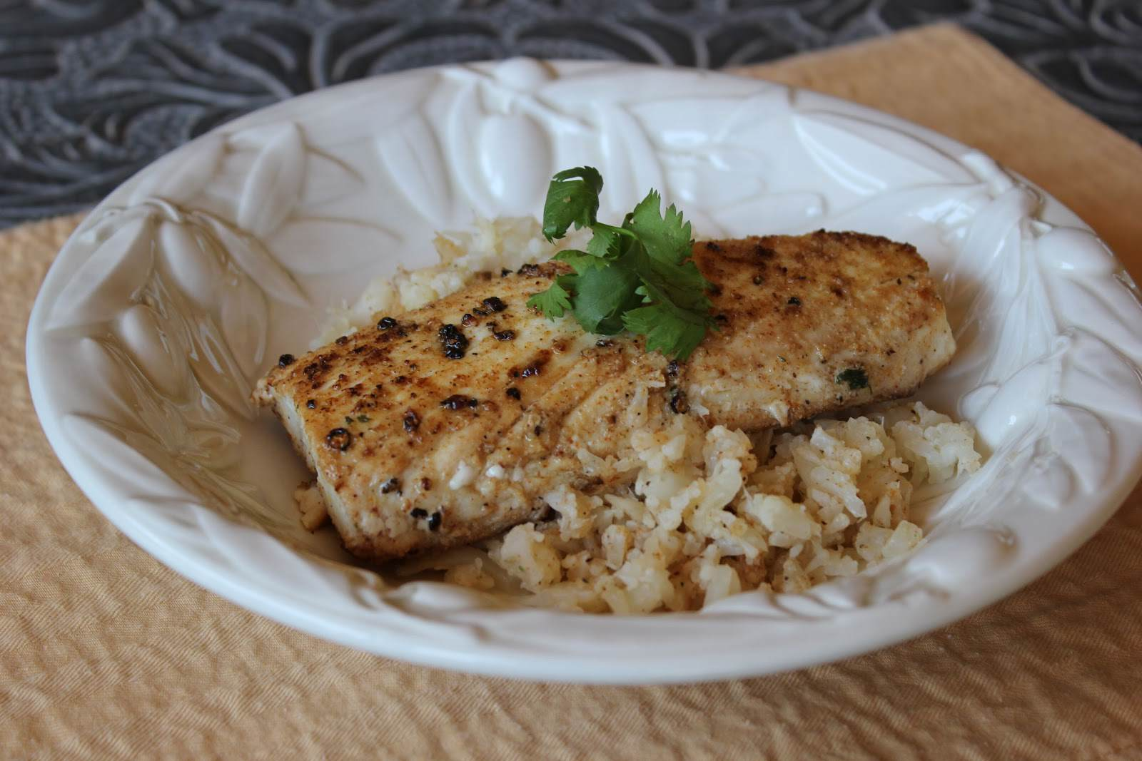 Paleo Pan Seared Spicy Mahi Mahi