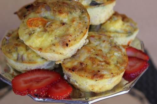 Mini Fritatta's with Chicken Sausage and Fennel