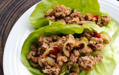 Chipotle Pepper Turkey Lettuce Wraps