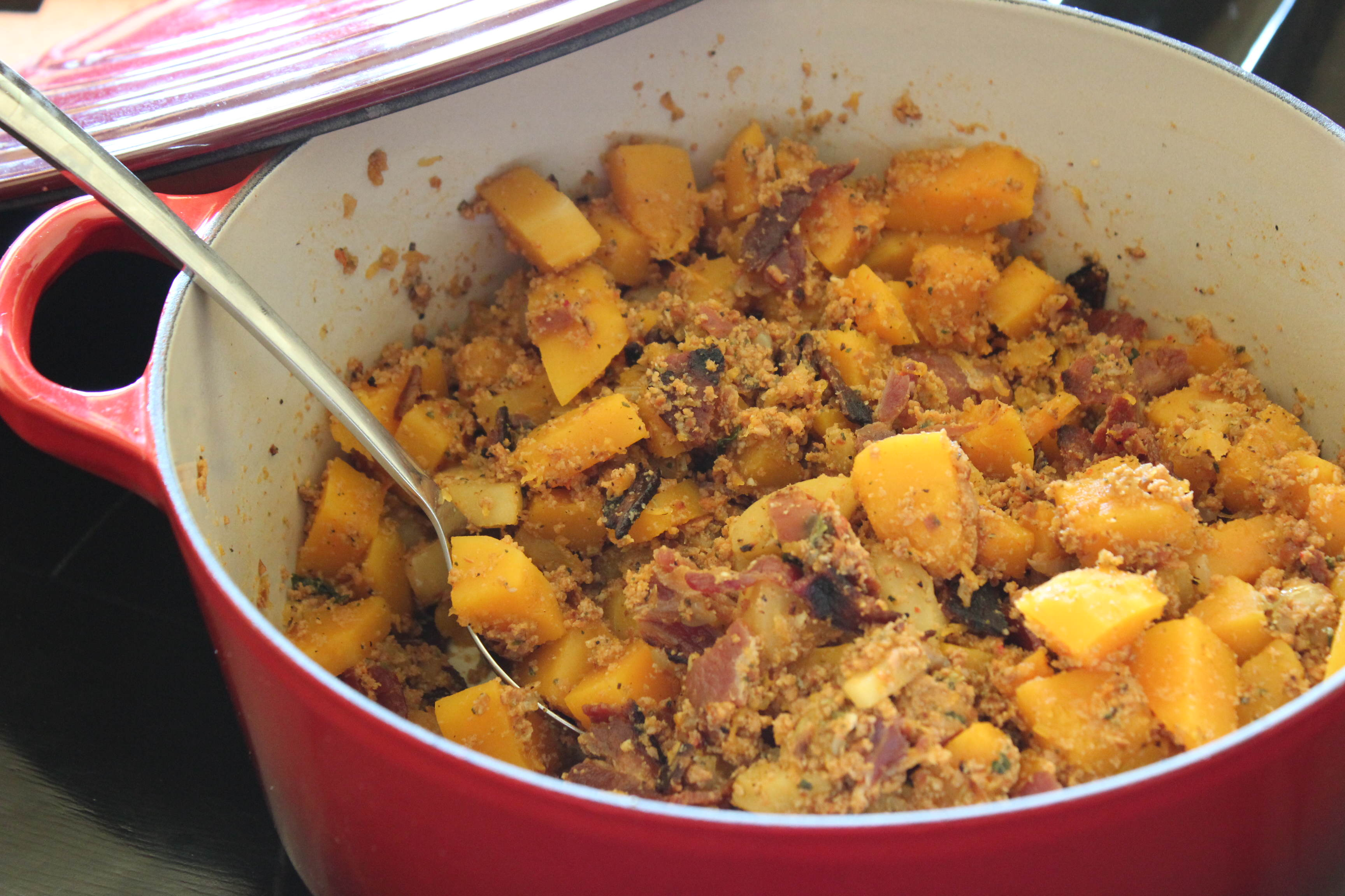 Paleo Butternut Squash and Apple Casserole