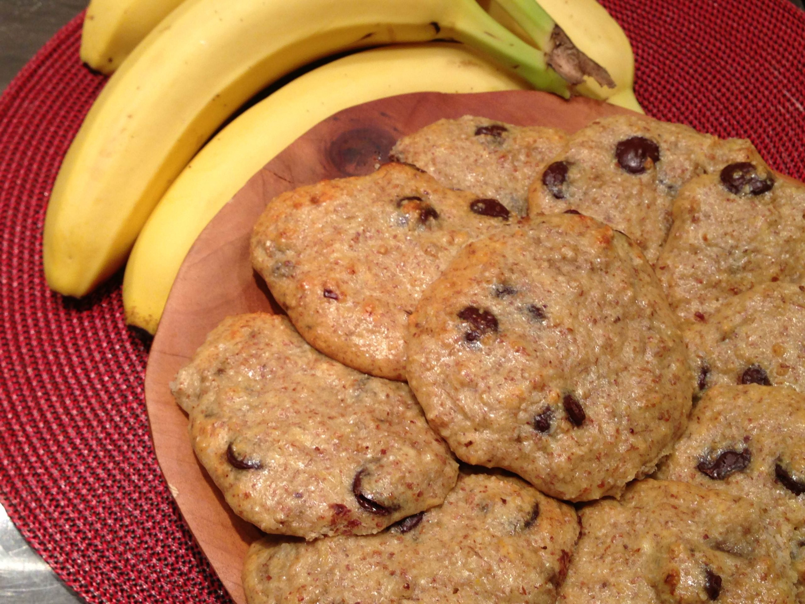 Grain Free Chocolate Chip Banana Protein Cookies
