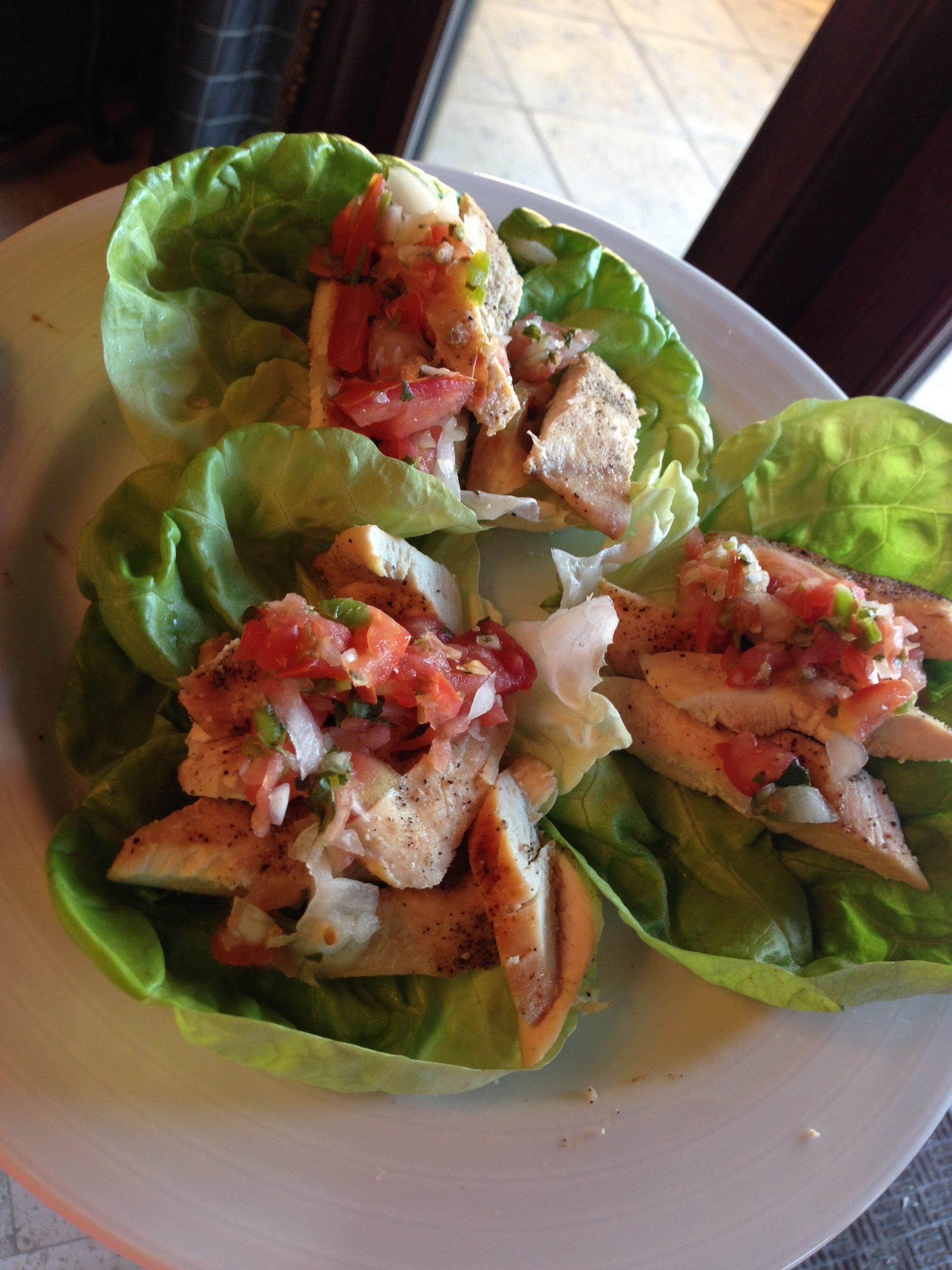 Paleo Chicken Lettuce Wraps