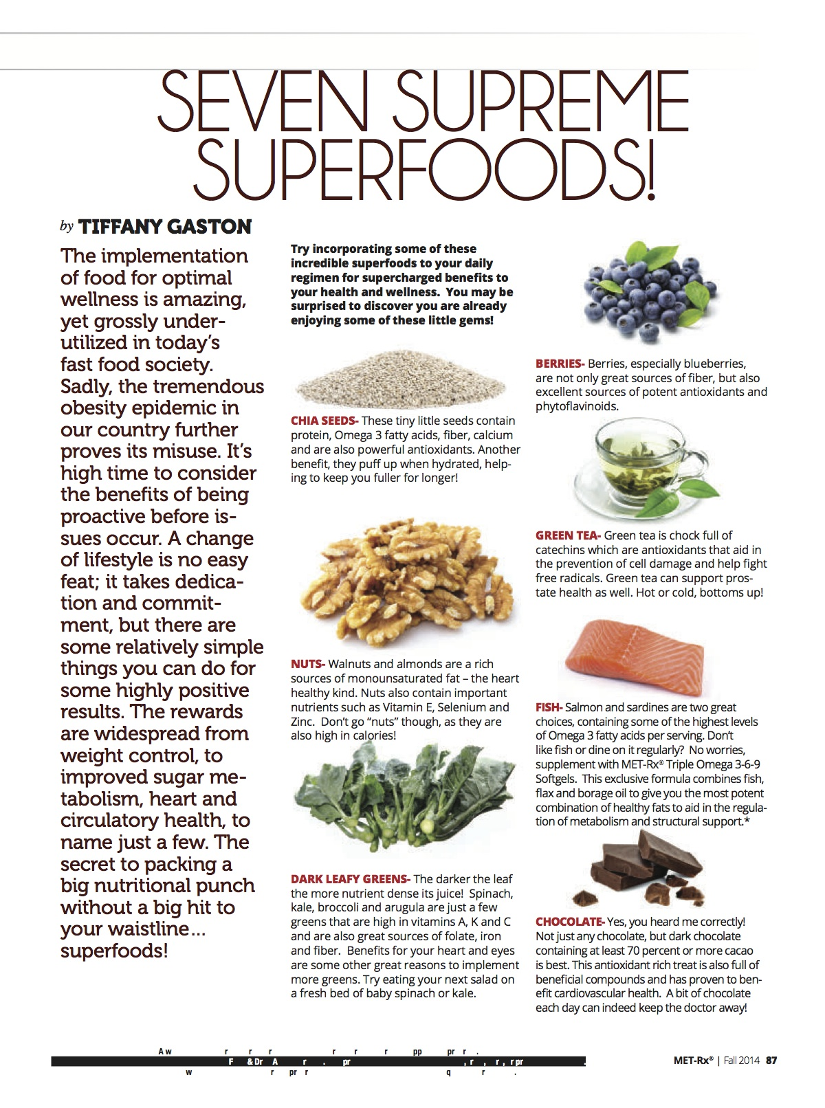 Seven Supreme Superfoods!